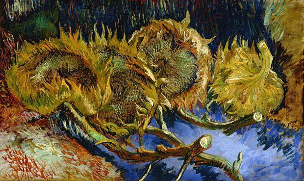 Vincent van Gogh, Vier uitgebloeide zonnebloemen, 1887, collectie Kröller-Müller Museum.