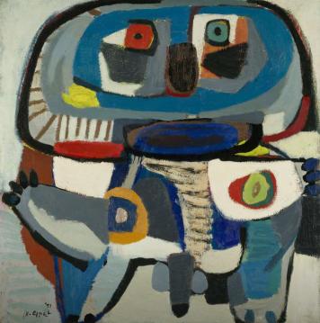 Karel Appel, De vierkante man, 1951, collectie Rijksmuseum Amsterdam.