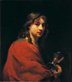 Willem Drost, Zelfportret als Johannes de Evangelist, ca. 1655, olieverf op doek.