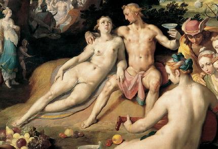 Cornelis van Haarlem, Peleus en Thetis (detail).