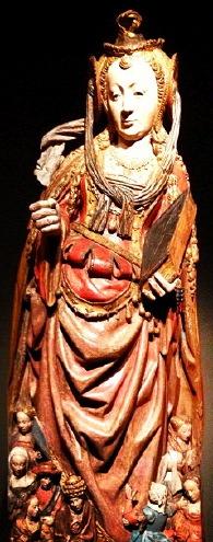 Meester van de Utrechtse Stenen Vrouwenkop, Ursula en reisgenoten, ca. 1530, collectie Museum Catharijneconvent, Utrecht.