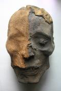 Hoofd van een mummie uit Egypte.