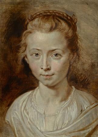 Peter Paul Rubens, Portret van een jong meisje (Clara Serena?), olieverf op paneel, 35,6 x 26 cm, privécollectie.