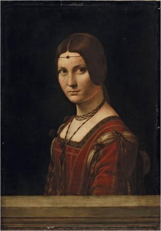 Leonardo da Vinci (1452-1519), Ritratto di Dama, ca. 1493-1495, collectie het Louvre, Parijs.