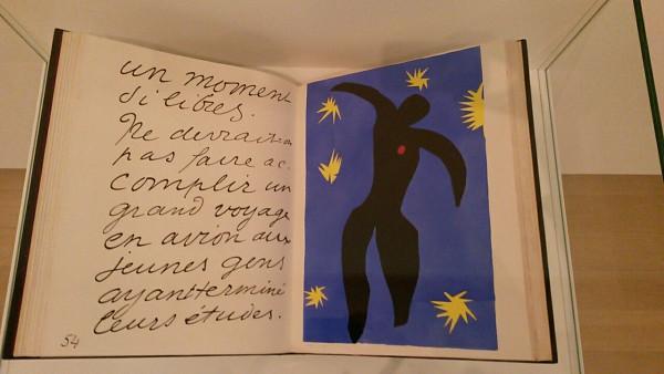 Boek Jazz, uit 1947, met illustratie van Henri Matisse. Foto: Suzanne Sanders.