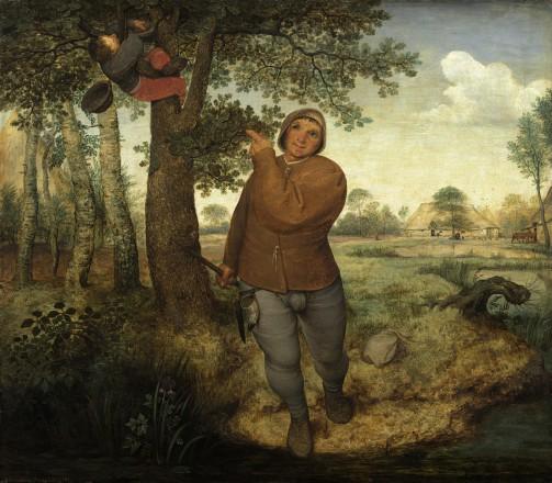Pieter Bruegel, De vogelnestrover, 1568. Paneel, 59,3 x 68,3 cm. Collectie Kunsthistorisches Museum, Wenen.