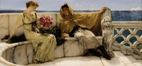 Laurens Alma Tadema, Amo te ama me, 1881, olieverf op paneel, collectie Fries Museum.