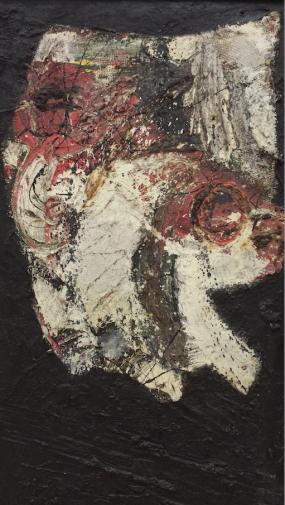 Jan Cremer (1940), Kop, 1958, olieverf op doek. Foto: Evert-Jan Pol.