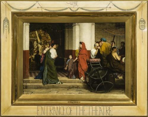 Sir Lawrence Alma-Tadema (1836-1912), Entrance to a Roman Theatre (Tadema Opus XXXV), olieverf op doek, in originele, door de kunstenaar ontworpen lijst, collectie Fries Museum, Leeuwarden.