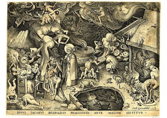Pieter Bruegel, Sint Jacob bestrijdt de hekserij en toverij, 1565.
