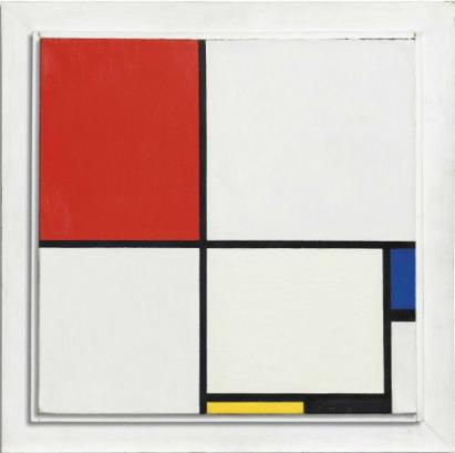 Piet Mondriaan (1872-1944),  Compositie No. III, met rood, blauw, geel en zwart, 1929. Foto: Christie's.