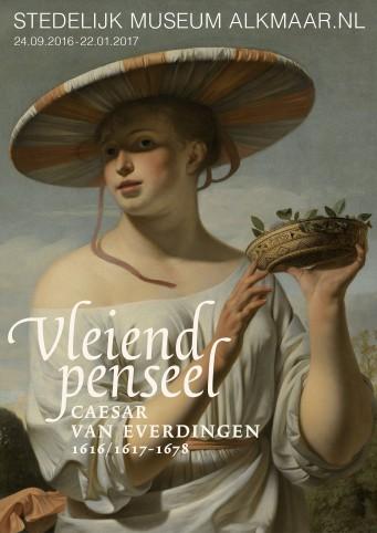 Affiche voor de tentoonstelling over Caesar van Everdingen.