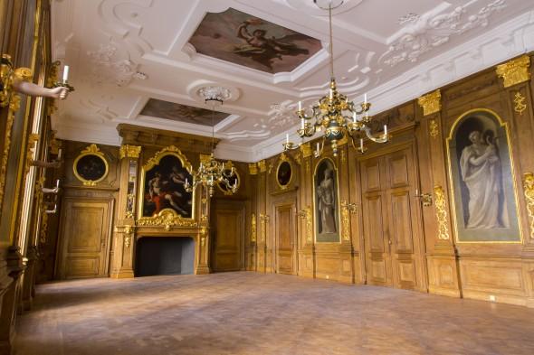 De Gouden Zaal in ere hersteld. Foto: Ivo Hoekstra / Mauritshuis, Den Haag.