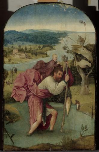 Jheronimus Bosch, De heilige Christophorus, ca 1500. Olieverf op paneel, 123,5 x 83,0 x 5,2 cm. Museum Boijmans Van Beuningen, Rotterdam. Foto: Studio Tromp, Rotterdam.