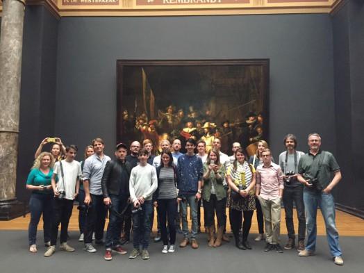 De deelnemende Instagrammers. Foto: Rijksmuseum.