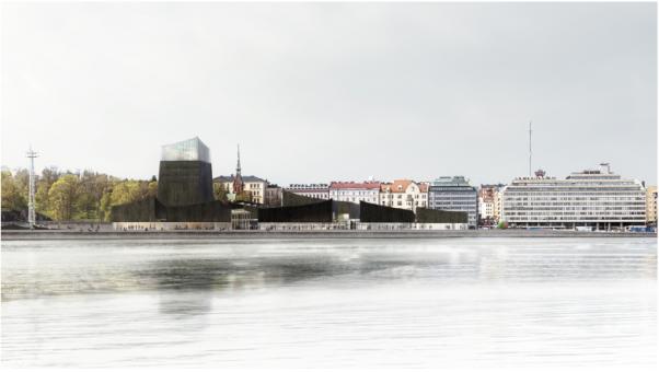 Het ontwerp van Guggenheim Helsinki. Moreau Kusunoki Architectes.