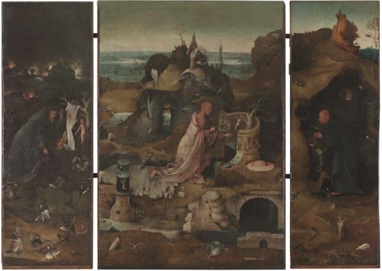 Jheronimus Bosch, Heremieten drieluik Drieluik, olieverf op paneel, Gallerie dell'Accademia, Venetië. Foto: Rik Klein Gotink voor het Bosch Research and Conservation Project.