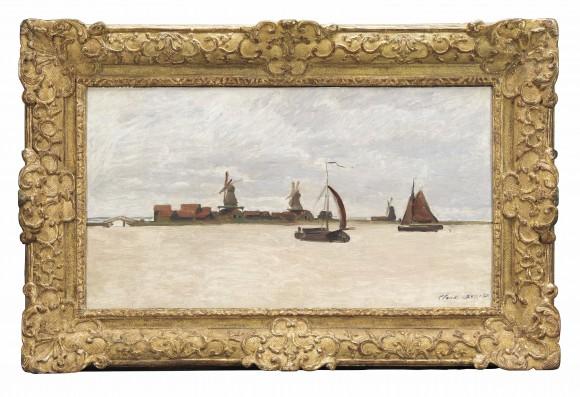 Claude Monet, De Voorzaan en de Westerhem, 1871, collectie Zaans Museum.