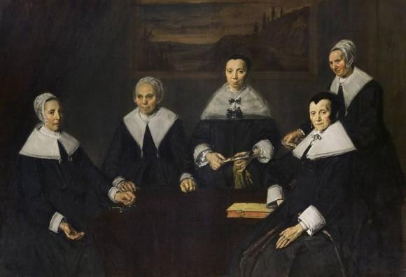 Frans Hals, Regentessen van het Oudemannenhuis, ca. 1664, collectie Frans Hals Museum Haarlem.
