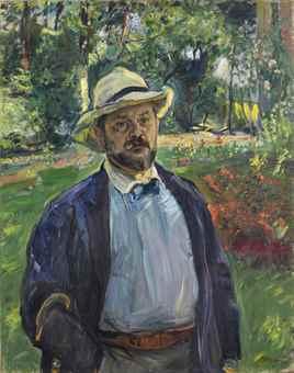 Max Slevogt (1868-1932), Selbstbildnis im Garten. Foto: Christie's.