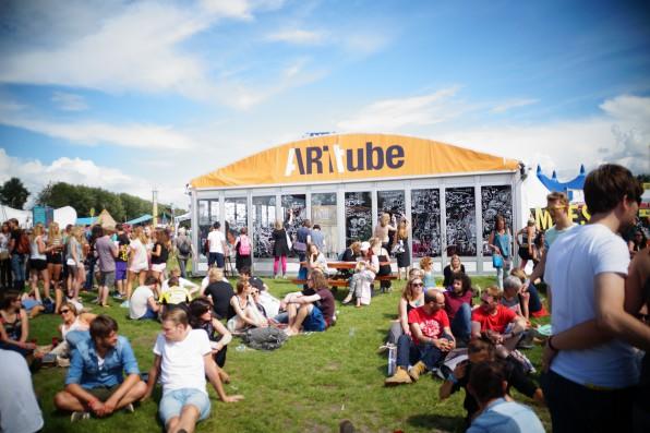 De ARTtube-tent in 2014.