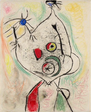 Joan Miró, Woman Doing Her Hair before a Mirror (Femme se coiffant devant dúne glace), 1938, Solomon R. Guggenheim Museum, New York.