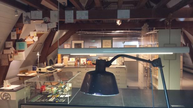 Atelier van Dick Bruna in het Centraal Museum. Foto: Evert-Jan Pol.