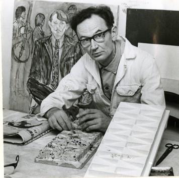 Jan Schoonhoven, 1969. Foto: Tiemen van der Reijken.