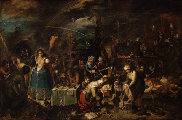 Frans Francken II, Heksenbijeenkomst, 1607, Kunsthistorisches Museum Wenen.