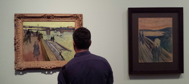 Left: Vincent van Gogh. The Bridge at Trinquetaille, 1888. Private collection. Right: Edvard Munch. The Scream, 1893. Munch Museum, Oslo. Photo: Evert-Jan Pol.