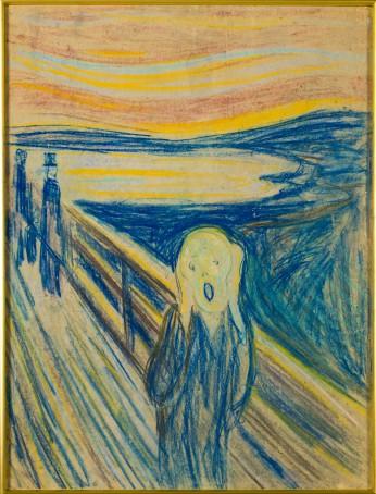 Edvard Munch (1863-1944), Skrik (De Schreeuw), 1910, collectie Munch Museet, Oslo.