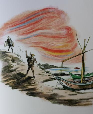 Illustratie van Erik Kriek uit het boekje Een prachtige dag.