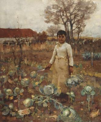 James Guthrie, Dochter van een boerenknecht, olieverf op doek, 1883, Scottish National Gallery, Edinburgh.