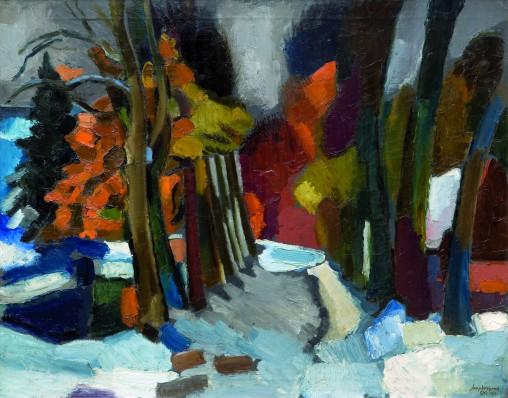 Jaap Weijand, Vroege sneeuw bij het Oude Hof, 1919, olieverf op doek, Singer Laren, schenking Renée Smithuis.