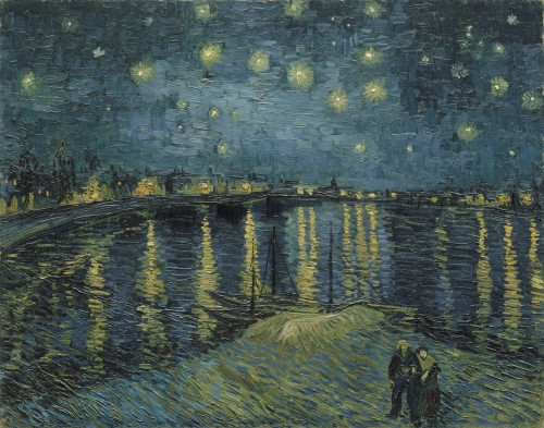 Vincent van Gogh. Sterrennacht boven de Rhône, 1888. Musée d'Orsay, Parijs.