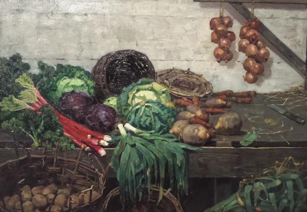 William York Macgregor, The Vegetable Stall (detail), 1882-1884, olieverf op doek, National Gallery of Scotland. Foto: Evert-Jan Pol.