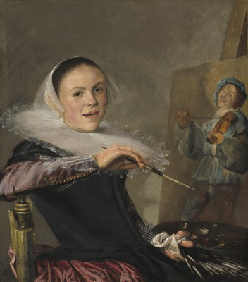 Judith Leyster, Zelfportret achter ezel, ca. 1640, National Gallery of Washington.