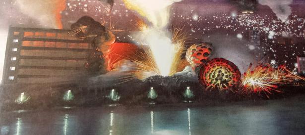 Olphaert den Otter (1955), Elementen / Vuur (uit de serie World Stress Painting) (detail).