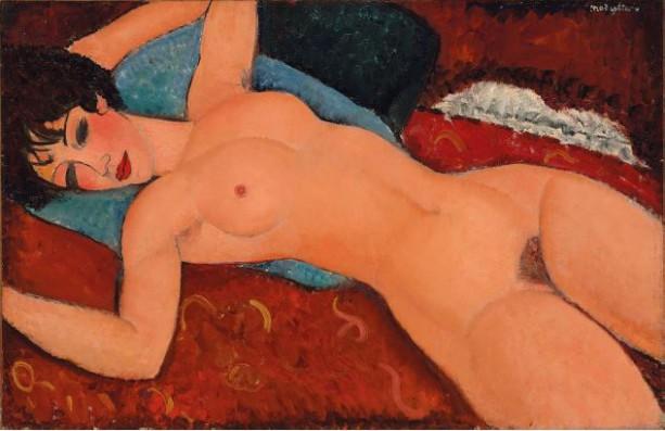 Amedeo Modigliani (1884-1920), Nu couché, olieverf op doek, 1917-1918. Foto: Christie's.