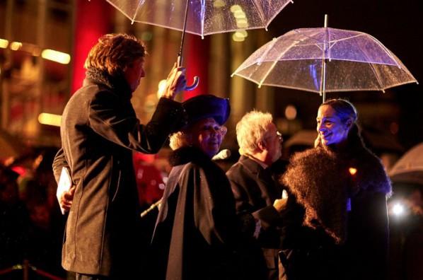 Prinses Beatrix tijdens de opening van het Amsterdam Light Festival.