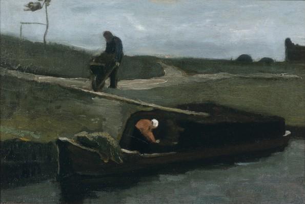 Vincent van Gogh, De Turfschuit, 1883, olieverf op doek, collectie Drents Museum.