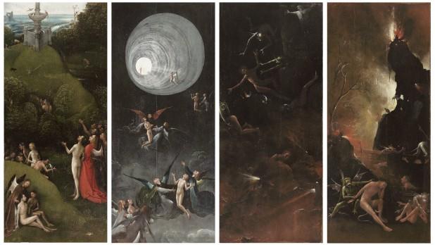 Jheronimus Bosch, Visioenen van het Hiernamaals, ca. 1505-15 Venezia, Museo di Palazzo Grimani.