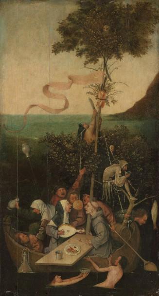 Jheronimus Bosch, Het Narrenschip, ca. 1500-10 Paris, Musée du Louvre, Département des Peintures.