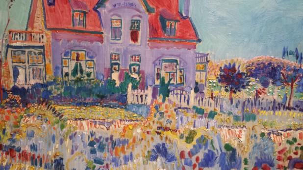 Villa Vita Nuova van Jan Sluijters, te zien op de expositie Kleur Ontketend in Gemeentemuseum Den Haag.