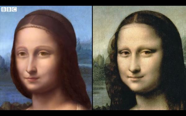 Still uit de documentaire The Secrets of the Mona Lisa van de BBC.