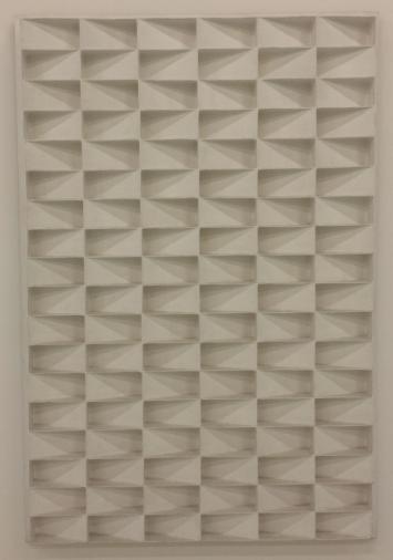 Jan Schoonhoven, Rechthoekige schuine vlakken, 1966, Stedelijk Museum, Amsterdam.