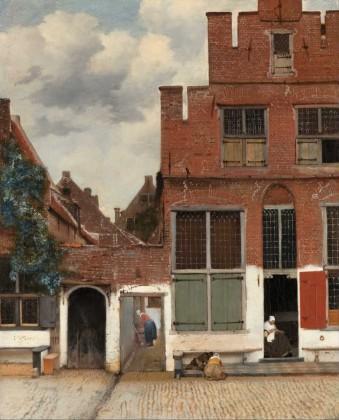Johannes Vermeer, Gezicht op huizen in Delft, bekend als Het Straatje, ca. 1658, Rijksmuseum, Amsterdam.
