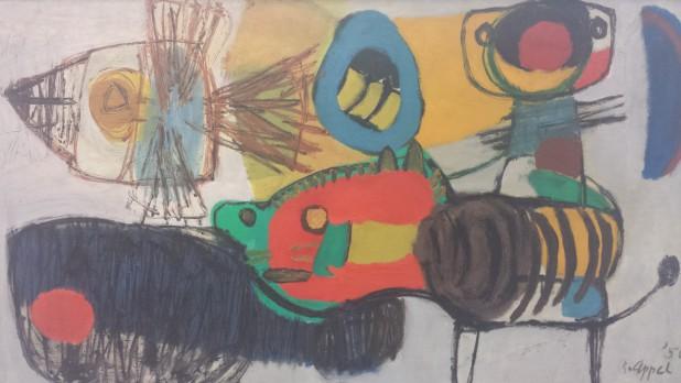 Karel Appel, La promenade, 1950.