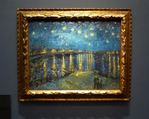 Vincent van Gogh. Sterrennacht boven de Rhône, 1888. Musée d'Orsay, Parijs. Foto: Musée d'Orsay via Twitter.