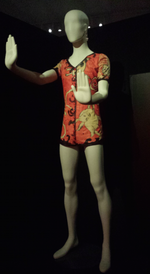 Kansai Yamamoto, korte bodysuit met konijnenprint, Ziggy Stardust.